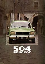 Brochure PEUGEOT 504 BREAK GR catalogue concession