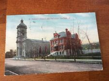 Postcard La Salle, Illinois. St. Patrick's Church and Parsonage. Posted 1910