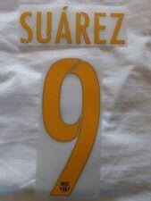 Número de identificación deportivos nombre Bloque & Conjunto de impresión Camiseta Barcelona Suarez 9 Niños Amarillo