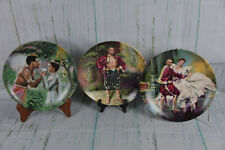 """3 King & I Collector Plates """"Puzzlement"""", """"Shall we Dance"""", """"Kiss in Shadow"""""""