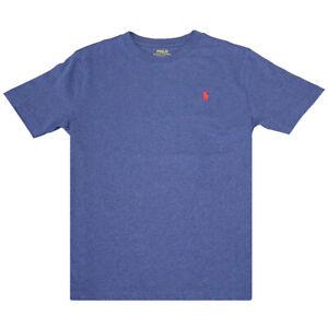 Polo Ralph Lauren Kid's Dark Pastel Blue Red Classic Round Neck S/S T-Shirt