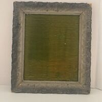 "Antique Wood Gesso 13""X 10"" Ornate Floral Wood Picture Frame"