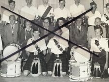 Vintage Black White Photo Coffs Harbour Pipe Band Jean Piddick Arnie Forsythe