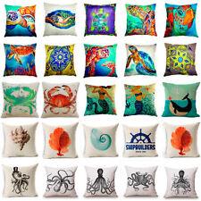 Разнообразный морской животное хлопковая, льняная наволочка диван чехол на подушку домашний декор