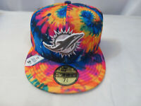 New Era 2020 NFL Miami Dolphins Crucial Catch Hat 59FIFTY Mens Size 7 3/8 New