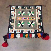 Unique Tasseled Saddle Blanket, Native American (Navajo) Textile