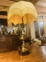"Huge Solid Brass ""Stiffel"" Lamp, Mid Century Hollywood Regency"