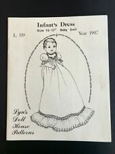 "Antique Infant Dress pattern size 15-17"" baby doll by Lyn's Doll House Patterns"
