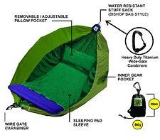 Hammock - Adventurers Double - 100% Parachute Material - Colour Forrest TriTone