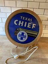 Santa Fe Chief Railroad Rail Road Sign Light Vintage Train Collector