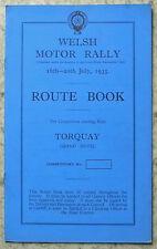 WELSH RALLY MOTORE Torquay percorso iniziale Book 16 - 20 LUGLIO 1935