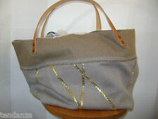 """NEW"" TRANSAT BOUTIQUE SAC CABAS ""MUSE DE PROVENCE"" REVERSIBLE SEQUINS GRIS"