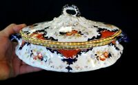 Beautiful Antique Coronet Opaque China Plate S.H. & Sons England Tureen
