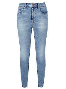 SimplyBe LIGHT-BLUE-ACID Chloe Skinny Jeans Long Length Plus Size 28 30 32 NEW