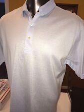 Peter Millar Blue Striped Cotton Polo Shirt Size Large