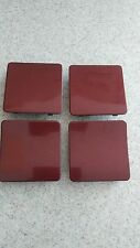 1997-2000 Mercedes C-Class Side Skirt Jack Hole Covers (Set of 4) -BORDEAUX RED