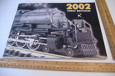 ~K LINE TRAIN CATALOG~2002 FIRST EDITION~