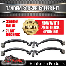 7 LEAF ROCKER ROLLER TANDEM TRAILER SPRING SET 3.5T.  CARAVAN, HORSE FLOAT