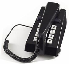 Steepletone Retro Style Push Button Dial Trim Phone Corded Telephone Black