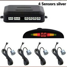 4 Sensors Silver Car SUV Reverse Radar Rear Audio Alarm Sound Alert Alarm System