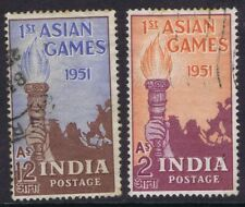 INDIA 1951 ASIAN GAMES USED LIGHT CREASE TOP RIGHT 12 a