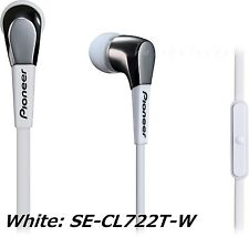 Pioneer SE-CL722T DEEP BASS HEAD series Earphone Hands free call From Japan NEW