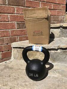 35  Lb  YORK New Cast Iron Kettlebell Weight Flat Bottom CrossFit Strength