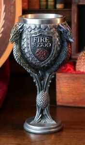 Game of Thrones : Official HBO Merchandise -  House Targaryen Goblet 17.5cm