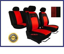 Universal Red /Black Eco-Leather Full Set Car Seat Covers Hyundai i30 / Tuscon