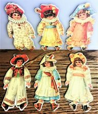 VICTORIAN DOLL CHRISTMAS ORNAMENT s (pkg of 6) MINT/Factory Sealed Shackman