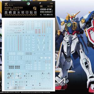 JX water decal for RG 1:144 XXXG-01W Wing Gundam water decal Gundam W