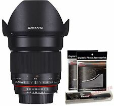 Samyang 16mm F2.0 Wide Angle ED AS UMC CS f/2 APSC DSLR Lens for Canon EOS EF