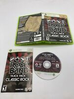 Microsoft Xbox 360 CIB Complete Tested Rock Band Track Pack: Classic Rock