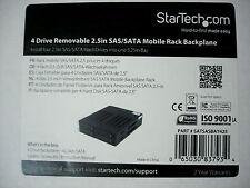 """NEW StarTech 4 Drive Bay Removable 2.5"""" SAS/SATA Mobile Rack 5.25"""""""