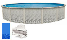 "24'x52"" Ft Round MEADOWS Above Ground Swimming Pool w/ Swirl Bottom Liner Kit"