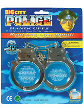 Kids Toy Metal Handcuffs Hand Cuffs Police Fancy Dress Children Pretend Play New