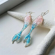 Beautiful White Gold Plated White Fire Opal Fashion Jewelry Drop Dangle Earrings