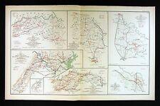 Civil War Map - Richmond Lynchburg Hanover Washington Spotsylvania Virginia MD
