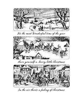 Tim Holtz Cling Rubber Stamps Christmas Holiday Scenes CMS425 Stampers Anonymous