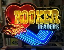 """Neon Signs / 39"""" Hooker Headers Neon Sign / Animated Neon Signs / Garage Signs"""