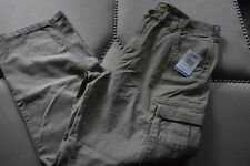 Mens CABELA'S Cotton Cargo Desert Tan Pants New With Tags Size 36W 32 Inseam