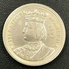 1893 Isabella Commemorative Silver Quarter Dollar