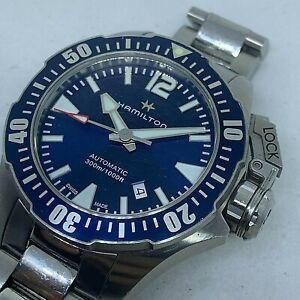 HAMILTON Khaki Navy Frogman Automatic Diver Blue Dial Men's Watch Ref H77705145