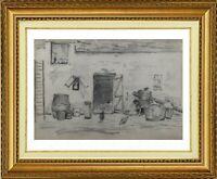 CHARLES WISLIN (1852-1932) SCENE DE BASSE-COUR A CERNAY-LA-VILLE 1872 (693)