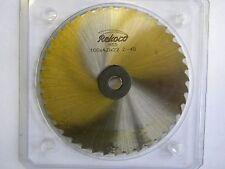 Rekord, Metallkreissägeblatt 100 x 4 x 22, 40 Zähne, HSS, DIN 1838B