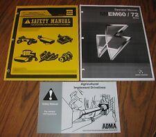 * Massey Ferguson EM60 EM72 Rotary Mower Operators & Safety Manuals lot 2010 NEW