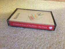 RARE 1984 GUIDED TOUR OF MACWRITE MAC PAINT ORIGINAL APPLE AUDIO CASSETTE • MINT