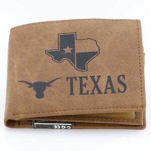 True Genuine Leather Texas Wallet Bifold Multi Clutch Pocket Card Holder