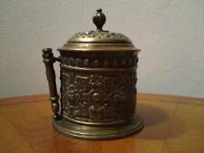 Victorian Brass  Box String Dispenser - with scissor sheath Adolph Frankau & Co