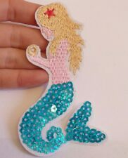 10 sequin patches patch mermaid applique iron on sew on motif hot fix sewing